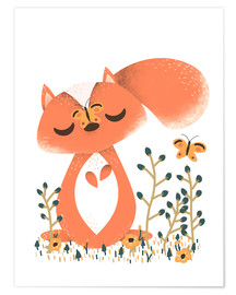 Poster Premium  Animal friends - The squirrel - Kanzilue