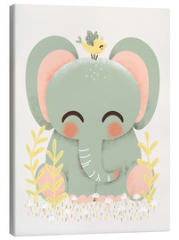 Stampa su tela  Animal friends - The elephant - Kanzilue