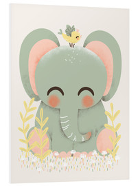 Stampa su schiuma dura  Animal friends - The elephant - Kanzi Lue