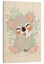 Stampa su legno  Animal friends - The koala - Kanzi Lue