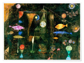Poster  fish magic - Paul Klee