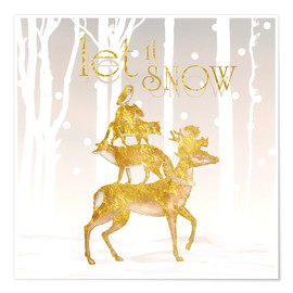 Poster Premium Let It Snow