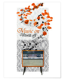 Poster Premium  Music On - Mandy Reinmuth