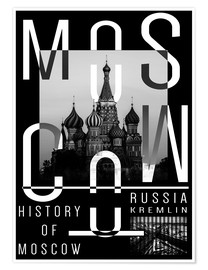 Poster  Moscow city - Typobox