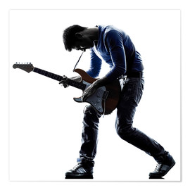 Poster Premium  Musician with an electric guitar