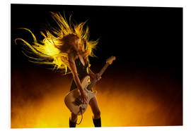 Forex  Rock girl with an electric guitar