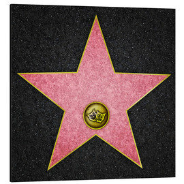 Stampa su alluminio  Blank Theater star, Hollywood Boulevard