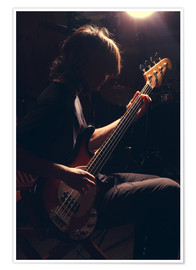 Poster Premium  Musician with electric guitar