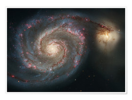 Poster Premium Spiral nebulae - beauty of the universe