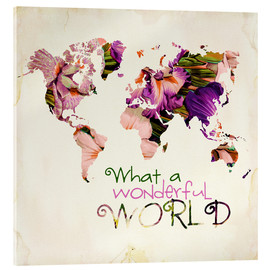 Stampa su vetro acrilico  What A Wonderful World Map - Mandy Reinmuth