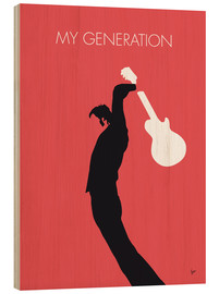 Stampa su legno  No002 MY THE WHO Minimal Music poster - chungkong