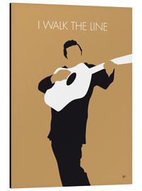 Stampa su alluminio  Johnny Cash - I Walk The Line - chungkong