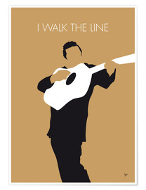 Poster Premium Johnny Cash, I Walk The Line