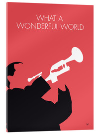 Stampa su vetro acrilico  Louis Armstrong - What A Wonderful World - chungkong