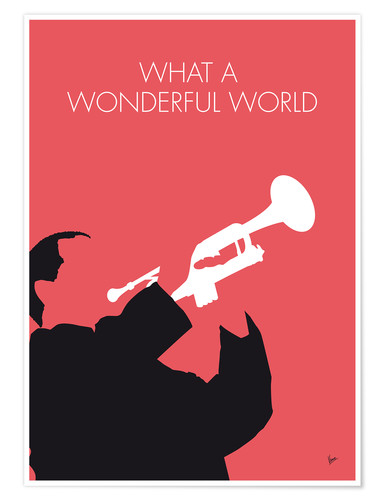 Poster Premium Louis Armstrong - What A Wonderful World