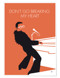 Poster Premium Elton John - Don't Go Breaking My Heart