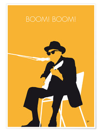Poster Premium No054 MY JOHNNY LEE HOOKER Minimal Music poster