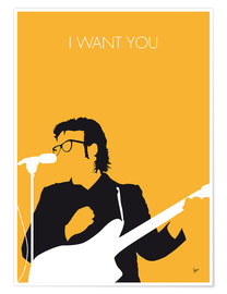 Poster Premium Elvis Costello - I Want You