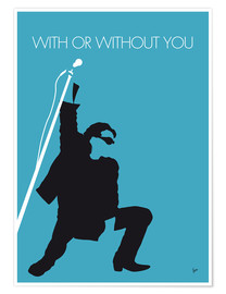 Poster Premium U2 - With Or Without You