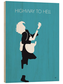 Stampa su legno  AC/DC, Highway to hell - chungkong