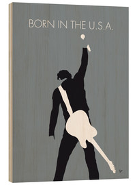 Stampa su legno  Bruce Springsteen, Born in the U.S.A. - chungkong