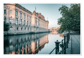 Poster Premium Bode Museum Reflection in the River Spree