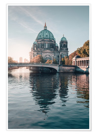 Poster Premium Berliner Dom in rising autumn light