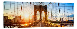 Stampa su vetro acrilico  Brooklyn Bridge in New York City, USA - Jan Christopher Becke