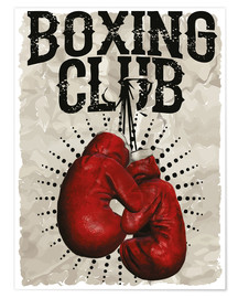 Poster Premium  Boxing club