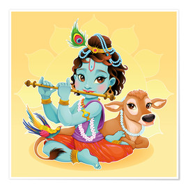 Poster Premium  Baby Krishna - Kidz Collection