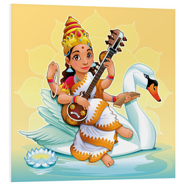 Stampa su schiuma dura  Saraswati with a swan - Kidz Collection