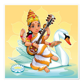 Poster  Saraswati with a swan - Kidz Collection