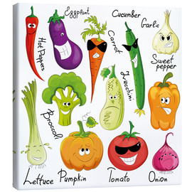Stampa su tela  Funny vegetables - Kidz Collection