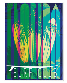 Poster Premium  Surf Club Florida