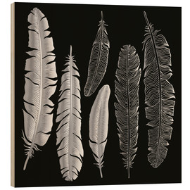 Legno  Feathers in silver