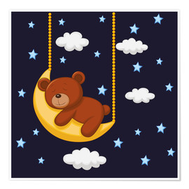 Poster Premium  Goodnight Teddy - Kidz Collection