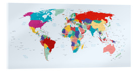 Vetro acrilico  World Map - Country overview, updated 2003 - Kidz Collection