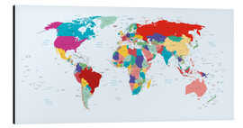 Stampa su alluminio  World Map - Country overview, updated 2003 - Kidz Collection