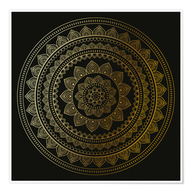 Poster Premium Mandala on Black