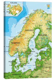 Tela  Scandinavia - Map