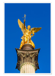 Poster Premium  Angel of peace in Munich - Dieterich Fotografie