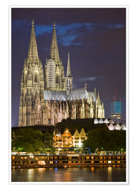 Poster Premium cathedral of cologne