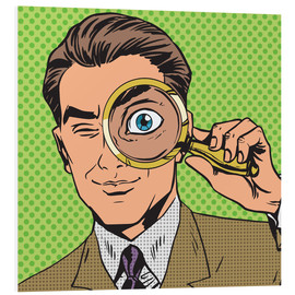 Stampa su schiuma dura  Detective with magnifying glass