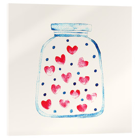 Stampa su vetro acrilico  Love in a glass - Kidz Collection