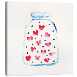 Stampa su tela  Love in a glass - Kidz Collection