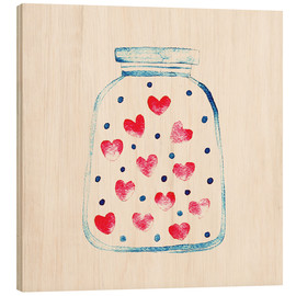 Stampa su legno  Love in a glass - Kidz Collection