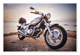 Poster Premium  Motorbike by the sea