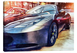 Stampa su tela  Sports car with reflecting surface
