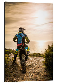 Alluminio Dibond  Enduro racer on the coast