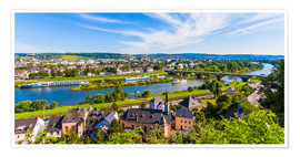 Poster Premium Ships on the Moselle River in Trier